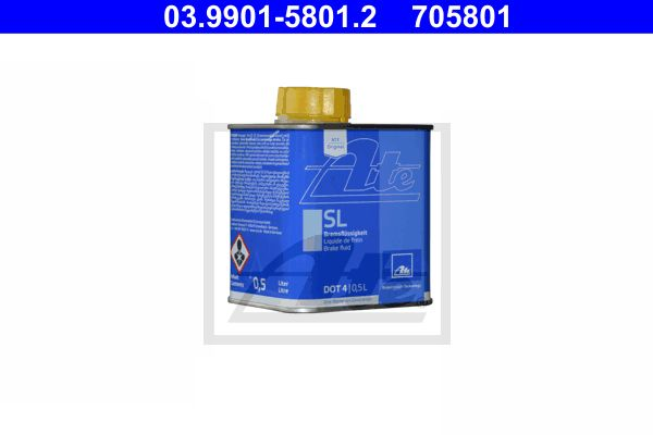 Remvloeistof DOT 4 0.5 liter