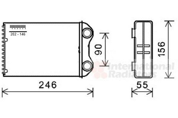 kachelradiateur voor de mini mini one  cooper  r50  1 4 d one