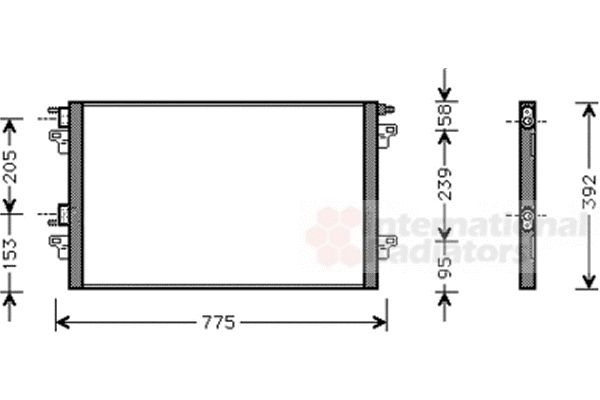airco condensor voor de renault vel satis bj 2 2 dci 115 16 v. Black Bedroom Furniture Sets. Home Design Ideas