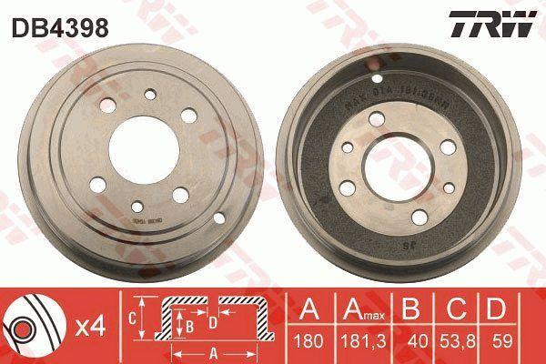 TRW Remtrommel achteras - DB4398
