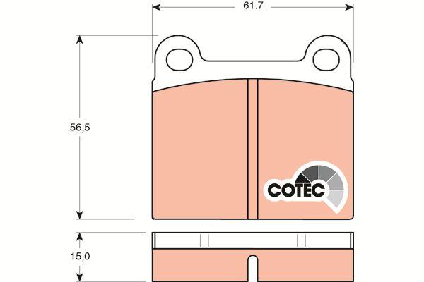 TRW Remblokset achteras COTEC - GDB101