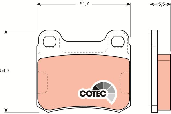 TRW Remblokset achteras COTEC - GDB911