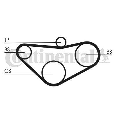 CONTITECH Distributieriem - CT800