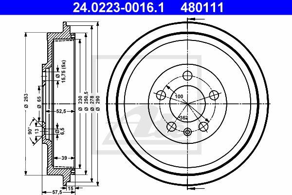 ATE Remtrommel achteras - 24.0223-0016.1
