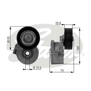 GATES Poly V-riemen kit - T38237