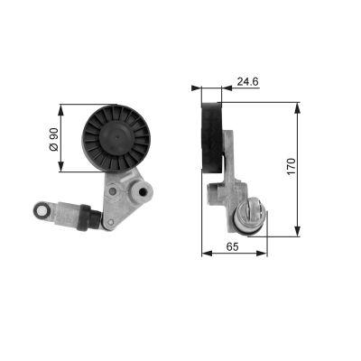 GATES Poly V-riemen kit - T38239